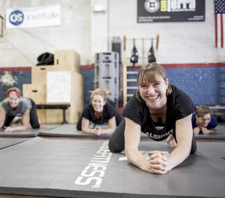 Garage Gym Strength Club crop top.